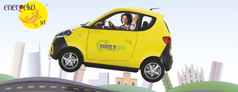 car sharing elettrico roma energeko sharengo